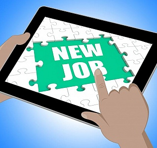 new-job-tablet-shows-changing-jobs-or-employment